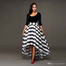 black and white long plus size dresses gaussianblur