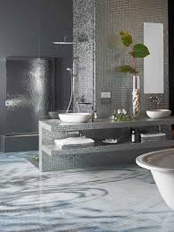 interior gorgeous bathroom design ideas with diagonal white glass