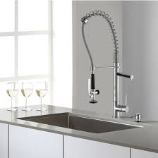 kitchen sink with faucet set kraus undermount single bowl kitchen sink with chrome or stainless