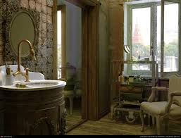 the ghost like old bathroom by mihail bendus sharben 3d
