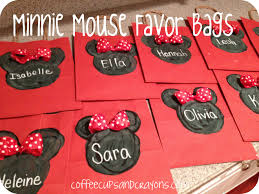 mickey mouse gift bags minnie and mickey favor bags and mouse ears coffee cups and crayons