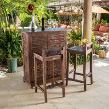 Patio Bar Furniture Sets - crosley palm harbor 3 piece outdoor wicker patio bar set hayneedle