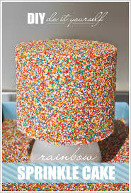 cake diy diy sprinkle cake from the oven