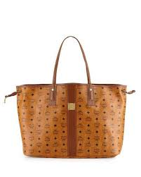 mcm designer mcm essential floral print coated tote bag