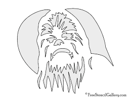 printable halloween pumpkin carving stencils free chewbacca stencil free stencil gallery
