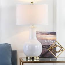 amazon com safavieh lighting collection paris white ceramic 27