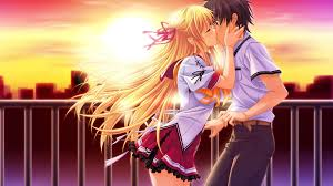 imagenes anime kiss anime girl boy beautiful kiss wallpaper hd wallpaper background