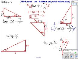 geometry 7 5 apply the tangent ratio youtube