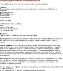 sample cover letter hiring manager sample letters