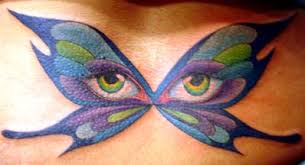 butterfly tattoos butterfly eye