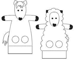 finger puppet worksheets farm animals funnycrafts