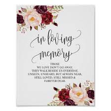 in loving memory wedding in loving memory wedding memorial table sign v10 zazzle ca