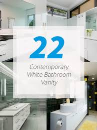 Modern White Bathroom Vanity by 22 Neat Contemporary White Bathroom Vanity Home Design Lover