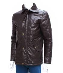 mens leather riding jacket men u0027s brown leather quilted coat u2013 leather jacket showroom