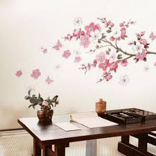 Cherry Blossom Home Decor Aliexpress Com Buy Sakura Flower Bedroom Room Vinyl Decal Art