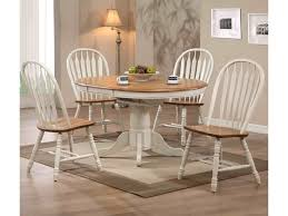 e c i furniture dining white trimmed round table with arrow back