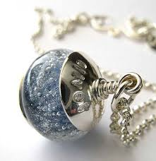 jewelry for ashes of loved one ash glass artisan memorial jewelry sterling silver handsted