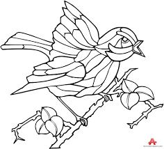 bird on branch outline clipart design free clipart design download