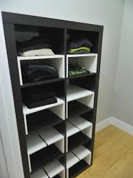 little corner house ikea hack expedit inserts for the closet