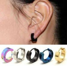 hoop huggie black stainless steel huggie earrings studs for men ebay