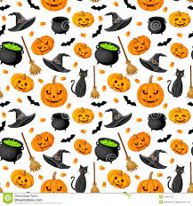 halloween background cat and pumpkin halloween seamless background stock photos image 34867873