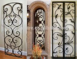 hebei manufacturer decorative simple wrought iron window grill with