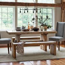 dining room west elm benches with emmerson dining table