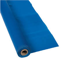 Pleated Table Covers Blue Plastic Tablecloth Roll Blue Tablecloth 25 Wedding