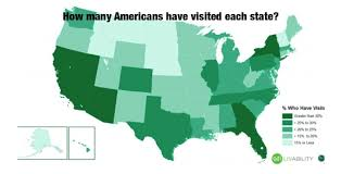 visited states map how many states has the average visited the travel