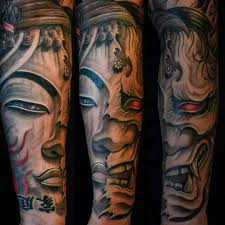hannya mask tattoo black and grey asian black and grey archives chronic ink