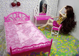 girls dollhouse bed doll accessories girls play house toys big bed u0026amp dresser