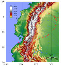 Topographical Map Of Usa by Large Detailed Topographical Map Of Ecuador Ecuador Large