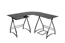 3 piece glass desk 3 piece l shaped corner office desk from naomi home ojcommerce