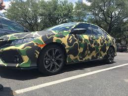 camo wrapped cars camo bape wrapped honda atbge
