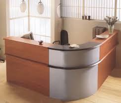 Modern Reception Desks by Elegant Reception Desk Furniture For Modern Office Fimim Sleek L