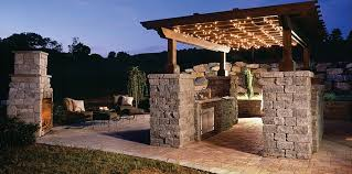 modern rustic kitchen designs for outdoor with lovely pergola and
