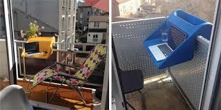 simple but elegant solution to the teeny tiny balcony blues