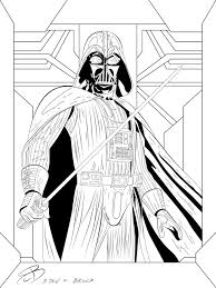 Perfect Ideas Darth Vader Coloring Pages By Rcbrock On Deviantart Darth Vader Coloring Pages