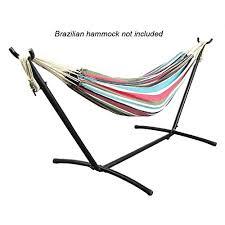sunnydaze brazilian hammock stand 9 foot long multiple colors