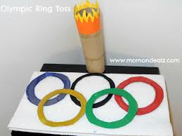 olympic kids craft create a ring toss