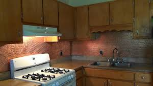 Copper Tiles For Kitchen Backsplash Diy Penny Backsplash Youtube