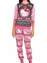 sweater pajamas hello womens fleece sweater pajamas set