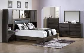 Black And White Bedroom With Color Accents Grey Bedroom Walls And White Wallpaper Black Sleigh Design Also