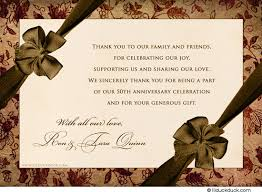 anniversary card for message vintage 50th anniversary thank you cards custom party