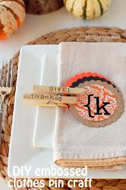 thanksgiving place card craft idea