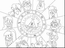 gravity falls coloring pages to print coloring page