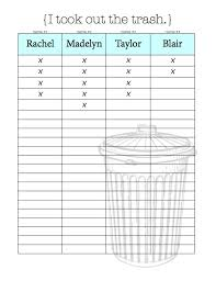 chore charts u0026 organizational tips for living with roommates free