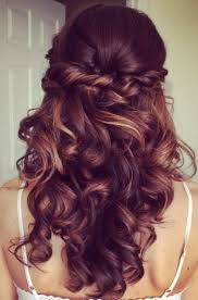 half up hairstyles for long hair half up half down prom hairstyles