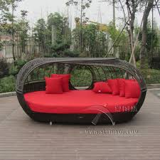 luxury outdoor rattan daybed with canopy outdoor furniture sun
