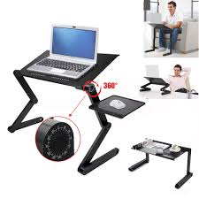360 adjustable folding laptop notebook pc desk table vented stand